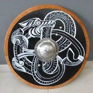 escudo vikingo ouroboros