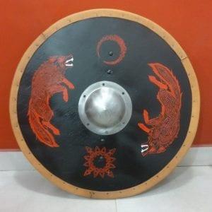escudo vikingo hati y skoll